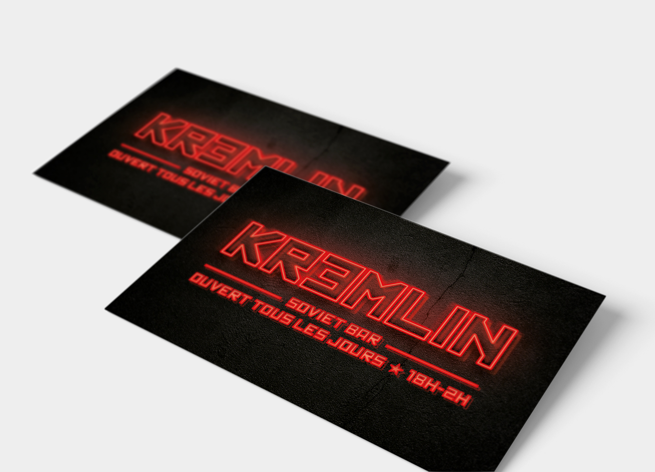 Le Kremlin bar cartes de visite